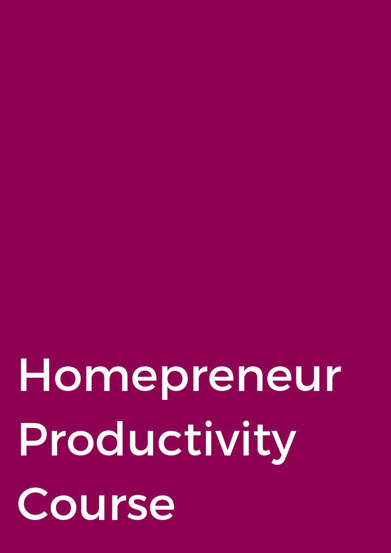HOMEPRENEUR PRODUCTIVITY COURSE